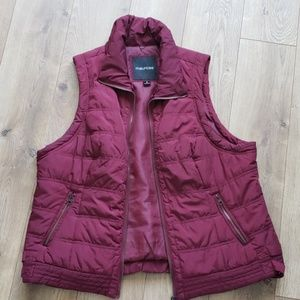 Maurices Zip Up Vest - Maroon/Wine Size 1